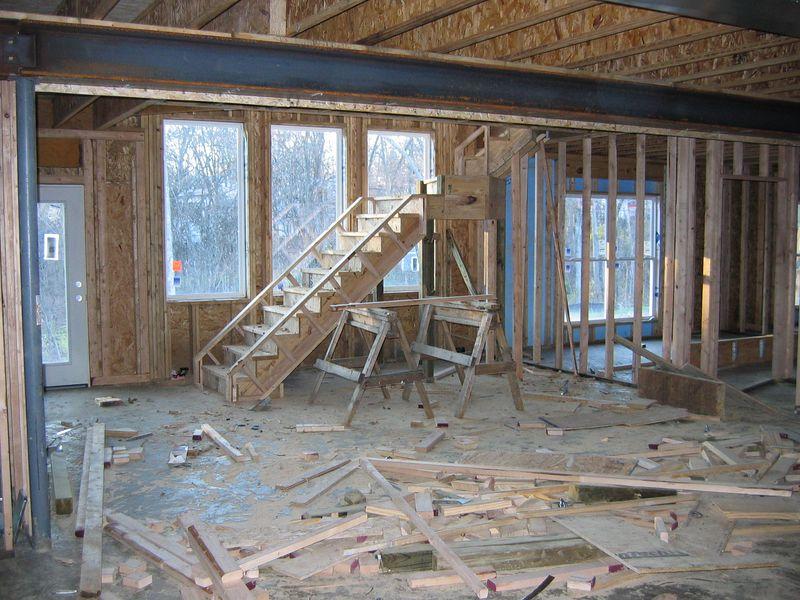 Basement Rooms Framed December 2