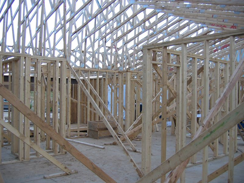 Roof Trusses from Interior<BR>