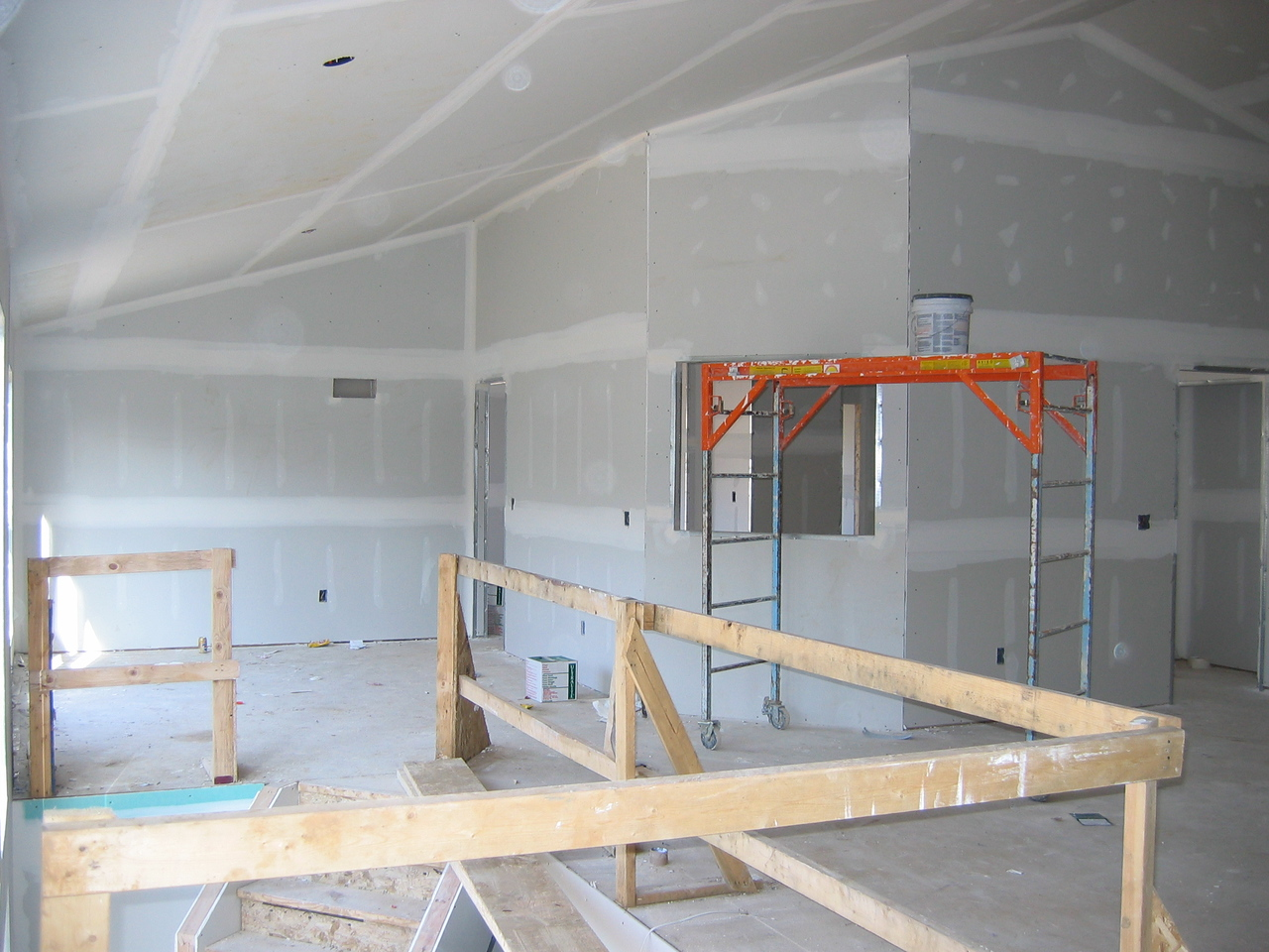 Drywall near Completion