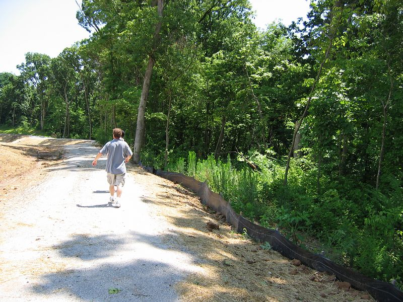 Bike Trail that runs behind our Lot