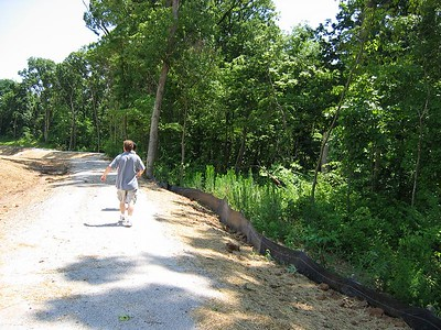 Bike Trail that runs behind our Lot and around the edge of the subdivision July 04
