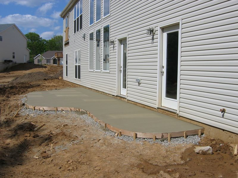 Concrete Patio Finished and Drying April 27