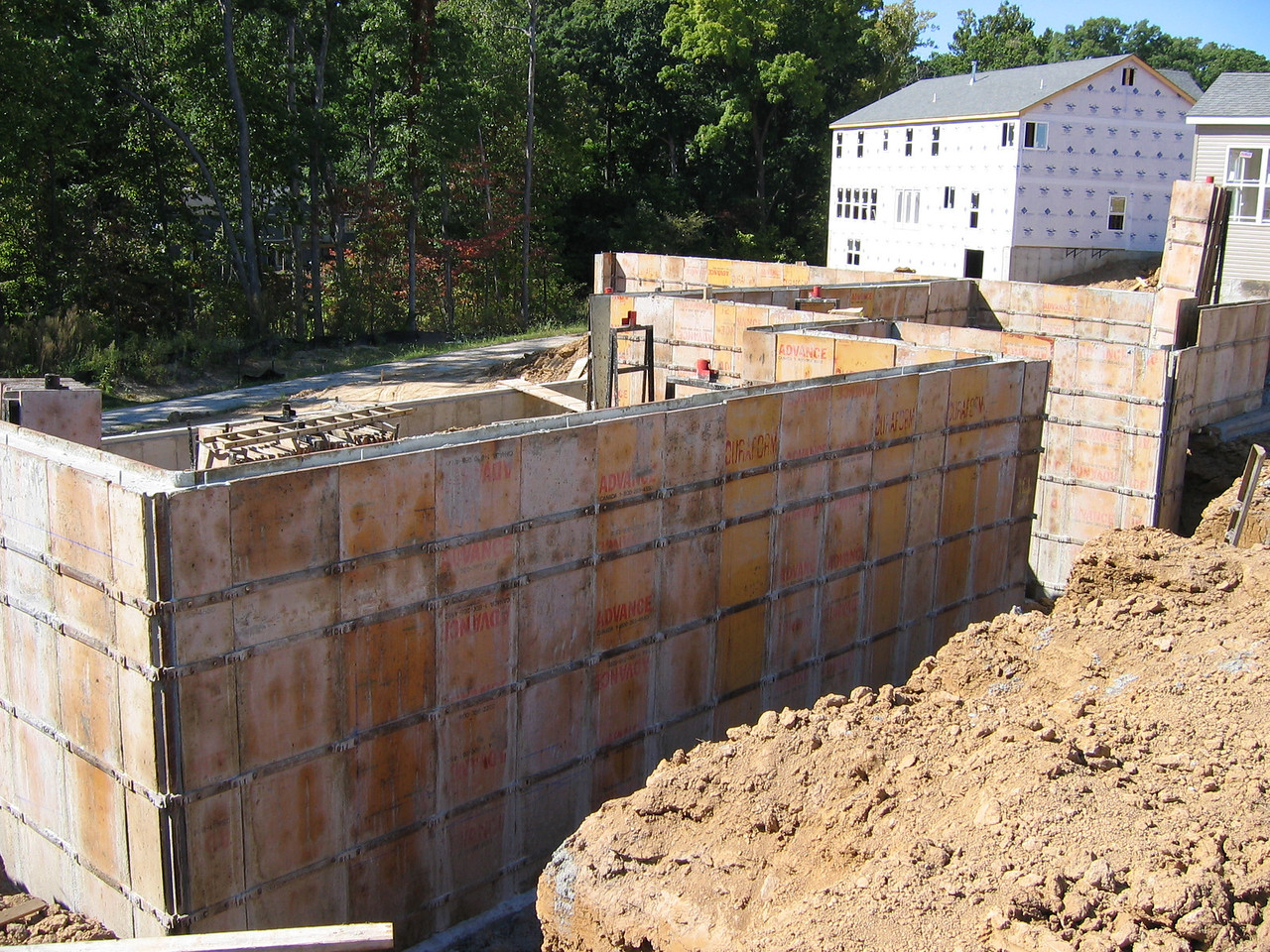 FrontView of the Foundation Forms