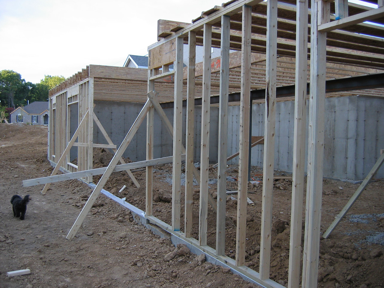 Rear View of the Poured Foundation October 7