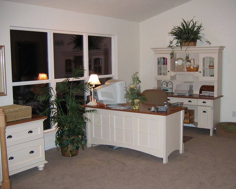 Office in Dining Room