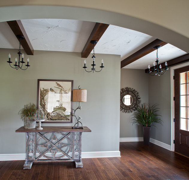 Foyer with Wood Beans
