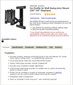A flat panel TV mount from Chief Manufacturing...