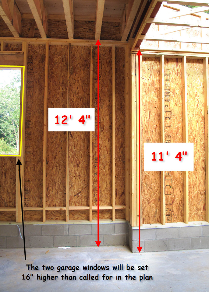The Ceiling And Window Heights After The Garage Floor Elevation Change