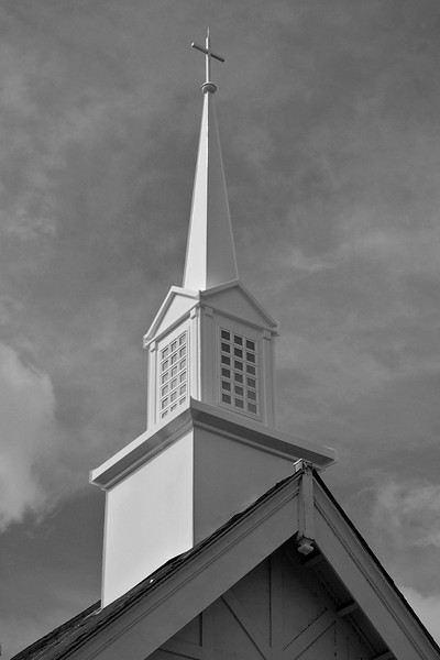 New steeple at a church in Williamstown, MA