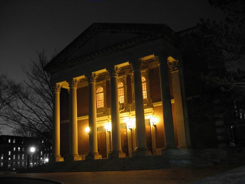 Chapin hall at night, Williams College, Williamstown, MA