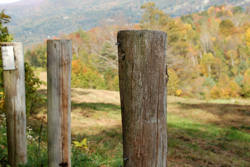 An old fence at the top of Sheep Hill, Williamstown, MA