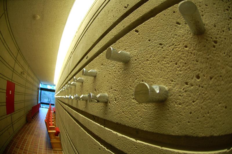 Hallway in Bernhard Music Center, Williams College, Williamstown, MA.  Taken with a 10.2mm fisheye.