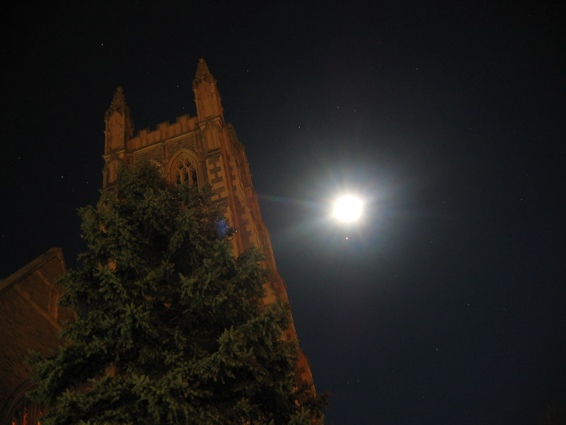 Thompson Chapel at night, Williams College, Williamstown, MA