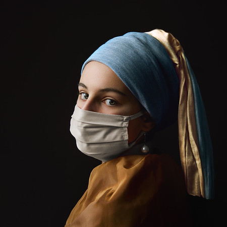 La jeune fille (masquée) à la perle / The (masked) girl with the pearl earring