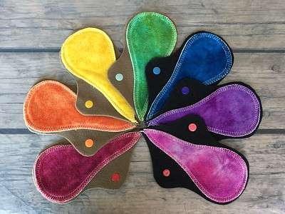 """SEVEN Thong Liners - hand dyed bamboo velour - """"rainbow"""""""