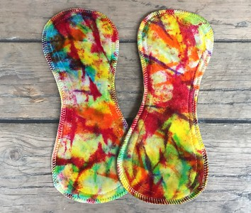 TWO Ultimate Regular Flow Pads - dyed by Tripletts Tie Dye