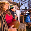 Kayla Packer stands as one of the three wise men during Saturday's live Nativity scene staged by members of the Cornerstone Christian Church.<br /> Keith Stewart Photo