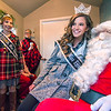 Effingham County Fair Queen Maria Lueken and  Junior Miss Effingham County Fair Queen Elizabeth Weidner visit with Santa Claus Saturday during the annual Hometown Christmas in downtown Effingham.<br /> Keith Stewart Photo