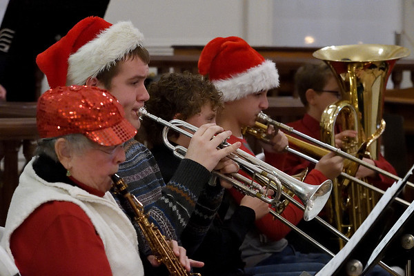 FACE Orchestra members perform Christmas carols inside the Effingham County Courthouse Museum Saturday during Hometown Christmas sponsored by the Downtown Effingham Business Group.<br /> Chet Piotrowski Jr. photo/Piotrowski Studios