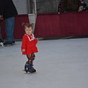 Zoie Eubank, 2, skates at Hometown Christmas. She's followed by Alisha Eubank. Dawn Schabbing photo