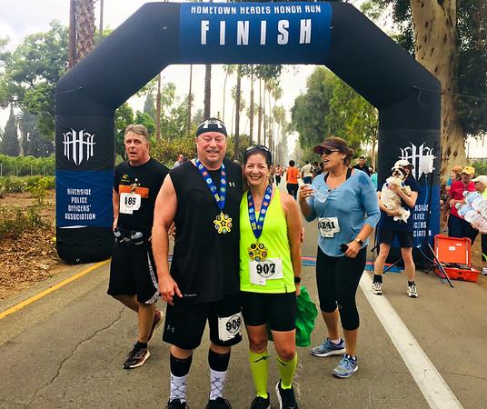 Hometown Heroes 10K Run, Riverside CA September 29, 2018