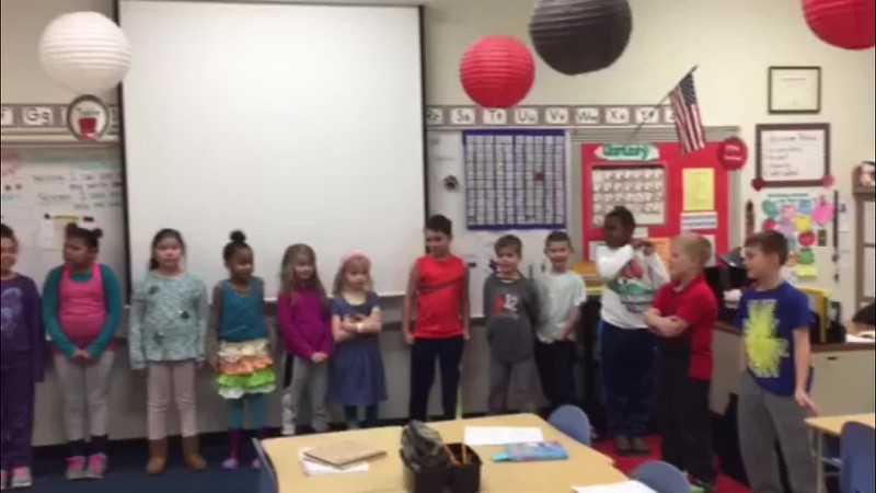 "Jaysen's 2nd grade class doing their ""Tacky the Penguin"" Reading Theater with Mrs. Onstead.<br /> <br /> <a href=""https://youtu.be/g4sibjXk6Z8"">https://youtu.be/g4sibjXk6Z8</a>"