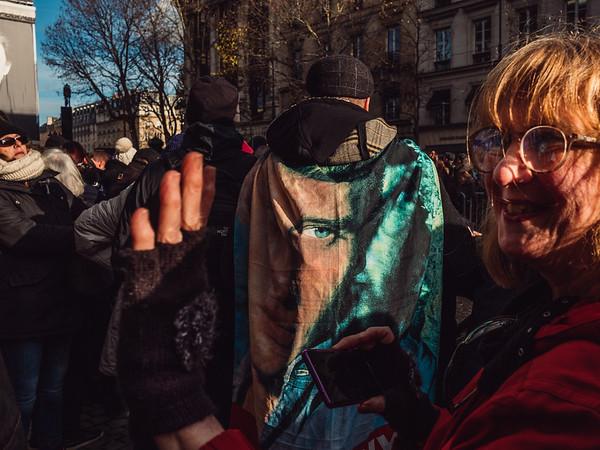 FRA - HUM - JOHNNY CEREMONIE FUNNEBRE - PARIS