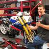Honda RC30 Service - Adam Superbike Forks