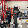 Honda VFR400 On Lift -  (6)