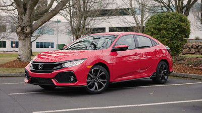 2017 Honda Civic Sport Hatchback Parked Reel