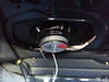 "Installing aftermarket speaker and speaker adapter plate  from  <a href=""http://www.car-speaker-adapters.com/items.php?id=SAK030""> Car-Speaker-Adapters.com</a>   (trunk view)"