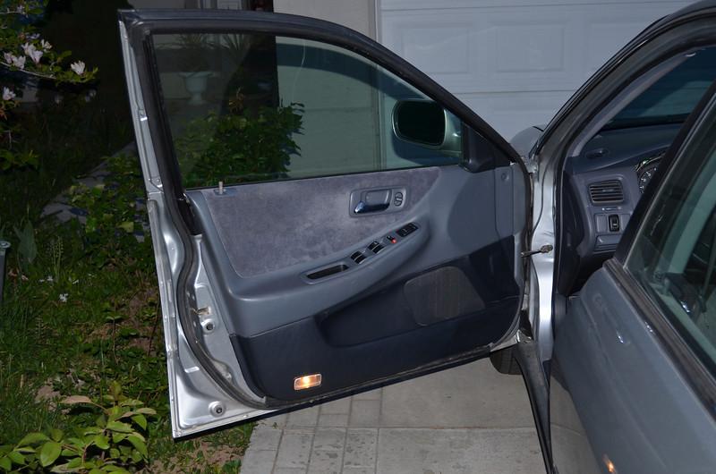 Door after speaker installation