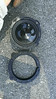 """Comparison: <br> Top: Aftermarket speaker <br> Bottom: Speaker adaptor ring   from  <a href=""""http://www.car-speaker-adapters.com/items.php?id=SAK028""""> Car-Speaker-Adapters.com</a>"""