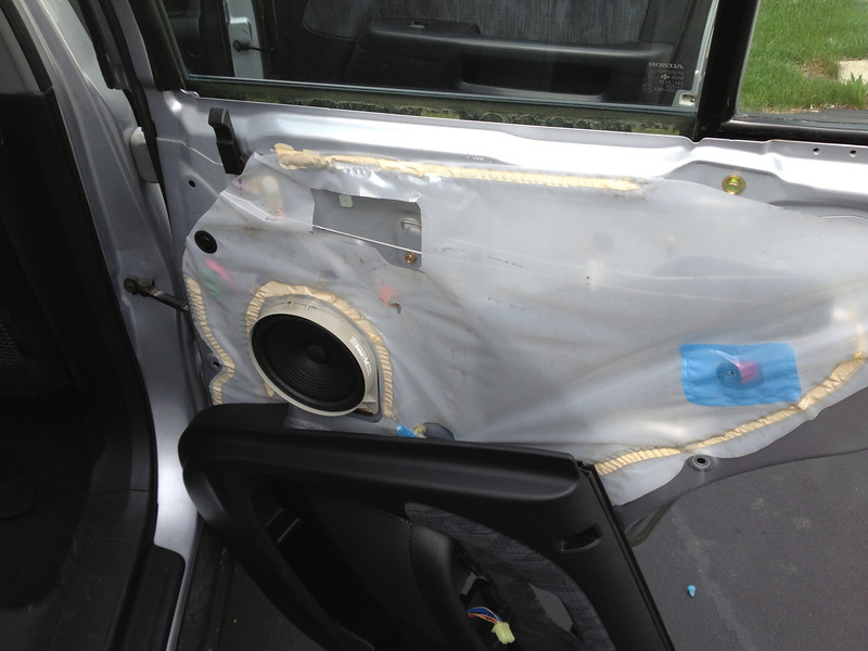 Door panel removed.  Factory speaker shown.