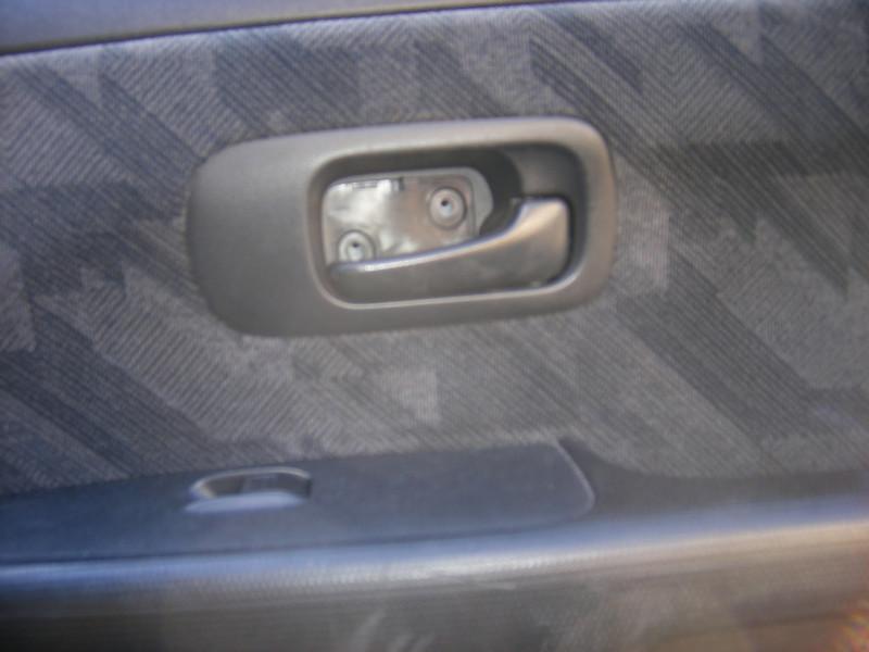 Door handle screws removed