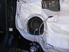 "Aftermarket speaker wired and speaker adapter bracket   from  <a href=""http://www.car-speaker-adapters.com/items.php?id=SAK028""> Car-Speaker-Adapters.com</a>  mounted to door"