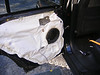 "Speaker adapter bracket  from  <a href=""http://www.car-speaker-adapters.com/items.php?id=SAK028""> Car-Speaker-Adapters.com</a>   mounted to door"