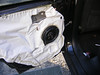 "Aftermarket speaker and speaker adapter bracket    from  <a href=""http://www.car-speaker-adapters.com/items.php?id=SAK028""> Car-Speaker-Adapters.com</a>   installed on door"