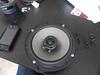 """Aftermarket speaker mounted to speaker adapter bracket  from  <a href=""""http://www.car-speaker-adapters.com/items.php?id=SAK033""""> Car-Speaker-Adapters.com</a>"""