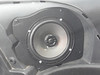 "Aftermarket speaker and speaker adapter plate  from  <a href=""http://www.car-speaker-adapters.com/items.php?id=SAK053""> Car-Speaker-Adapters.com</a>   installed"