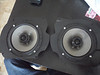 "Aftermarket speakers mounted to speaker adapter plates  from  <a href=""http://www.car-speaker-adapters.com/items.php?id=SAK053""> Car-Speaker-Adapters.com</a>"