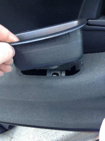 Removing door pull