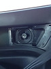 Rear panel speaker installation without grill