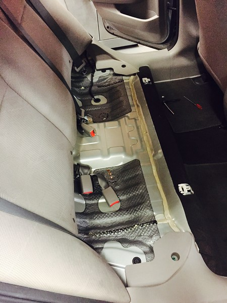 Rear seat removed