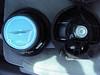Comparison:<br /> Left: Aftermarket speaker (rear view)<br /> Right: OEM speaker (rear view)