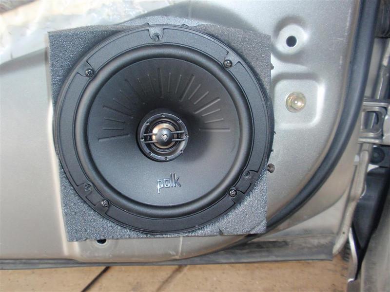 Aftermarket speaker installed