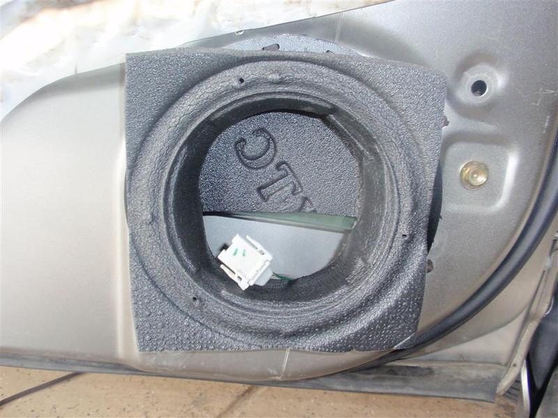 """XTC speaker baffle installed on speaker adapter bracket   from  <a href=""""http://www.car-speaker-adapters.com/items.php?id=SAK028""""> Car-Speaker-Adapters.com</a>"""