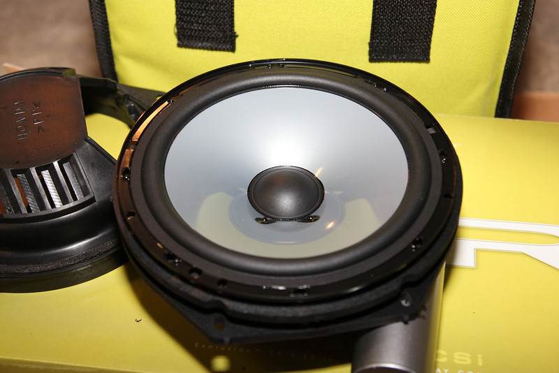 """Test fitting the new speaker with the speaker baskets bought from   from  <a href=""""http://www.car-speaker-adapters.com/items.php?id=SAK033""""> Car-Speaker-Adapters.com</a>"""