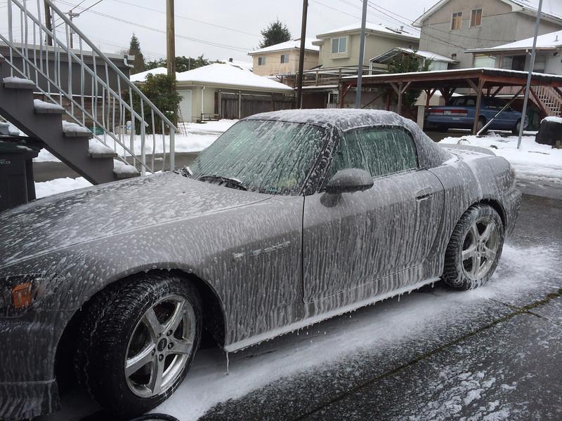 Foam bath!