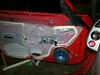 Door panel removed.  Factory speaker and pod shown.